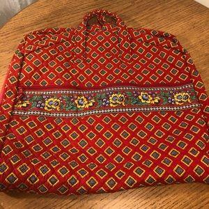 Vera Bradley garment bag in Villa Red